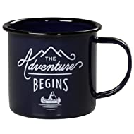 Gentlemen's Hardware Enamel Camping Coffee Mug, Blue (12 Ounces)