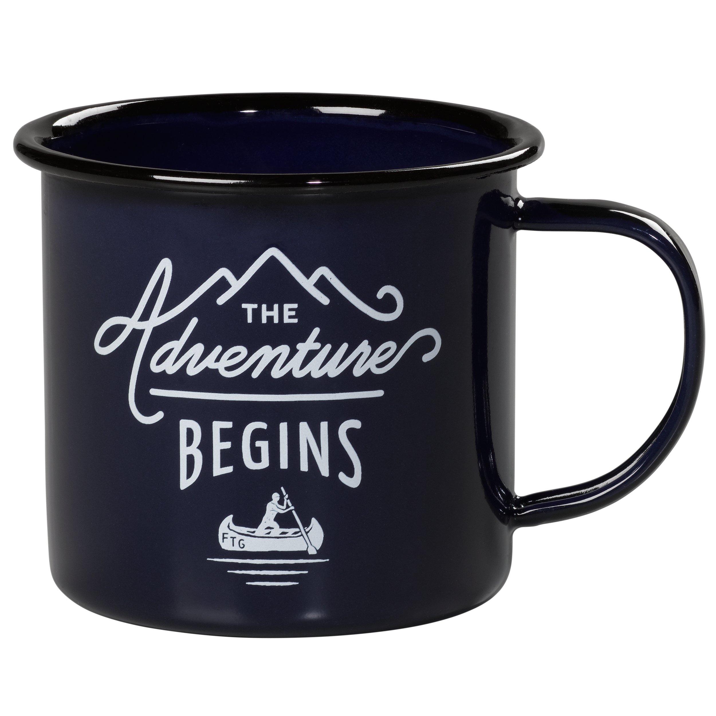 Gentlemen's Hardware Enamel Camping Coffee Mug, Blue (12 Ounces)