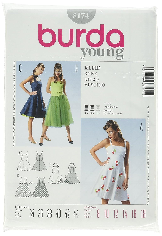 Burda Schnittmuster 8174 Kleid Gr. 34-44: Amazon.de: Küche & Haushalt