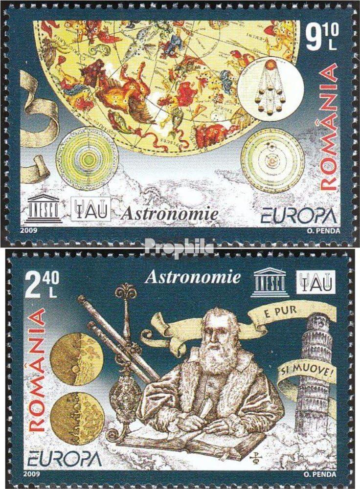 kompl.Ausg. 2009 /€uropa Weltraum Briefmarken f/ür Sammler Prophila Collection Rum/änien 6357-6358 Astronomie