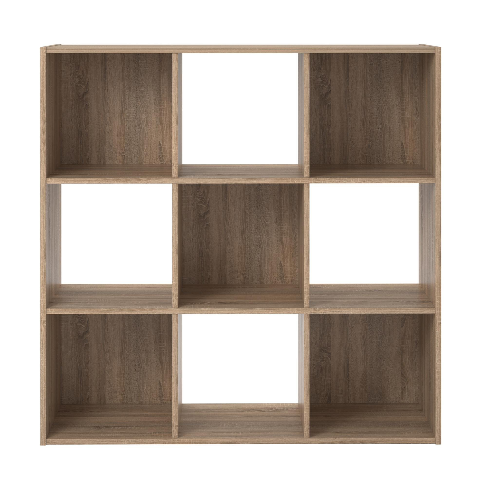 RealRooms Tally 9 Cube Bookcase, Weathered Oak by REALROOMS (Image #5)