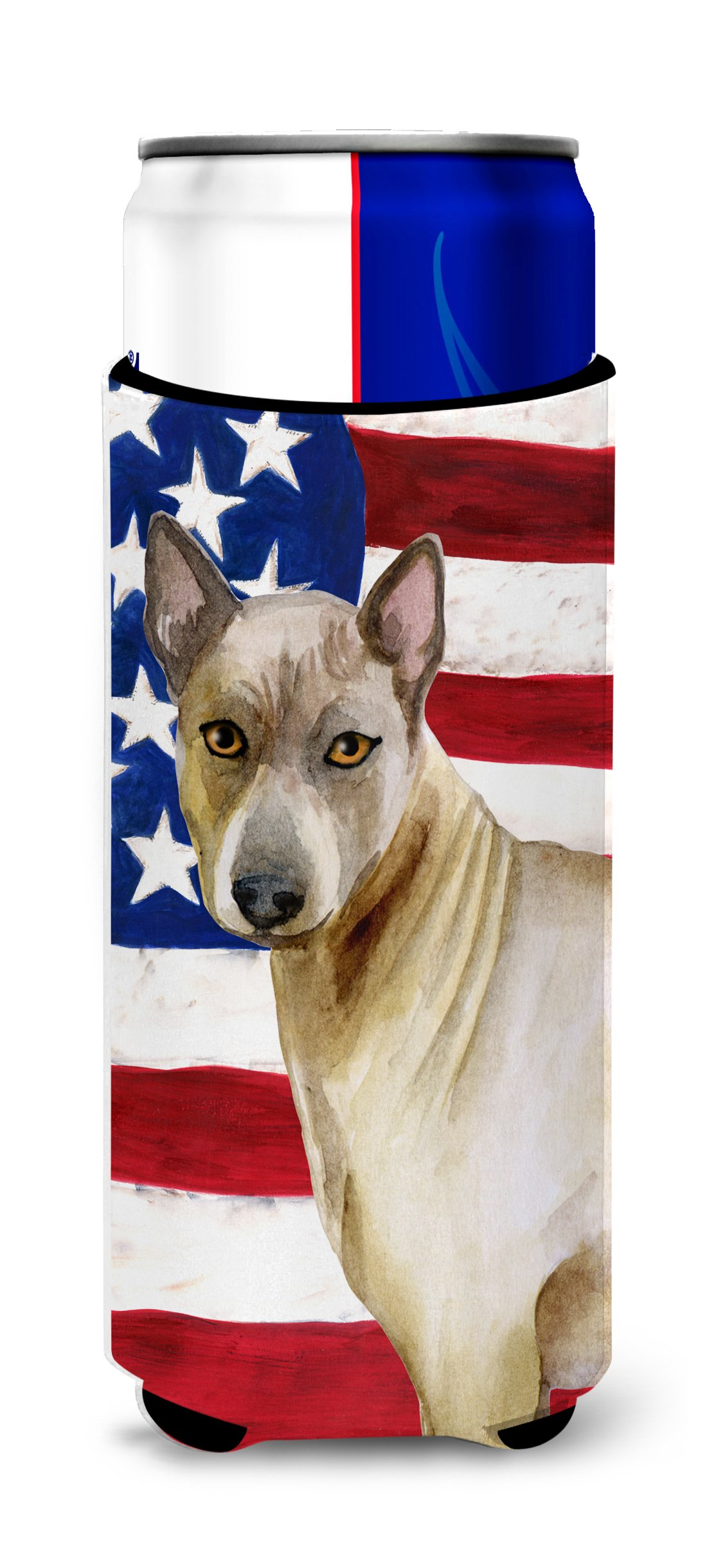Caroline's Treasures BB9680MUK Thai Ridgeback Patriotic Decorative Hugger, Slim Can, Multicolor
