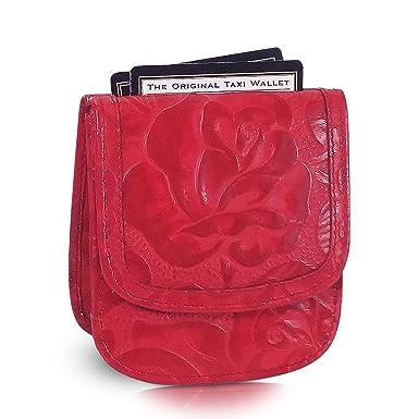 Amazon.com: Taxi cartera Rojo (Pequeño y plegable piel ...