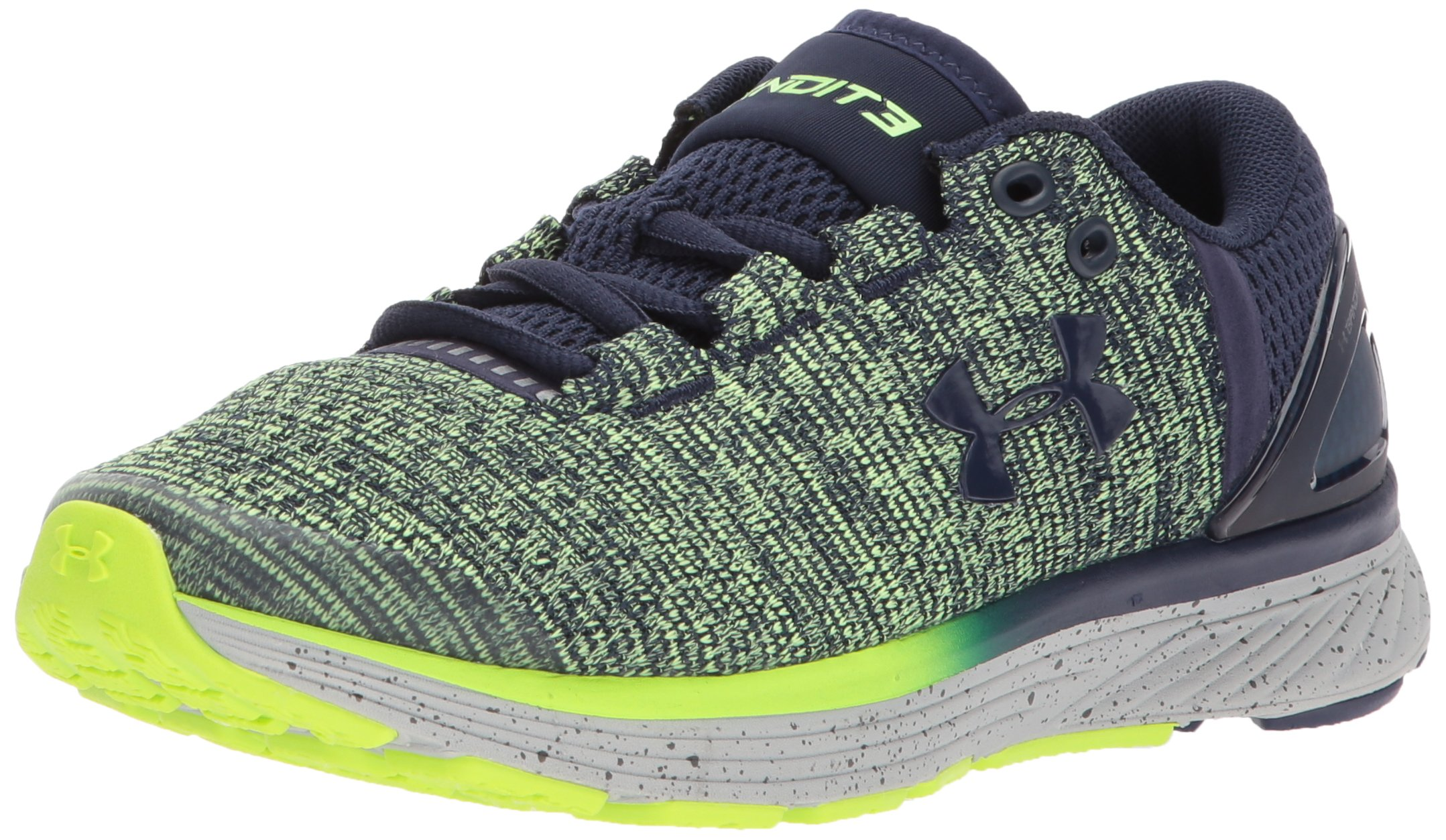 bc0180aee8 Under Armour Boys' Grade School Charged Bandit 3, Midnight Navy  (411)/Quirky Lime, 4.5