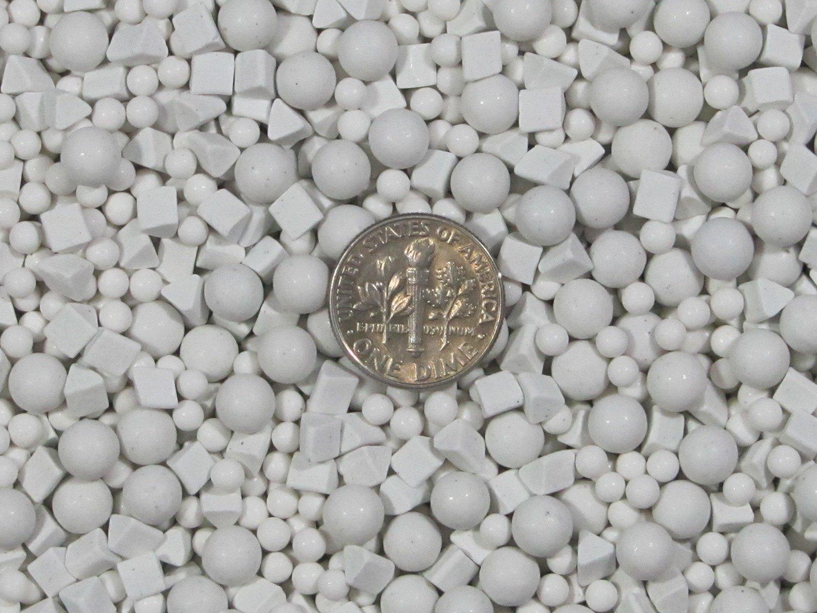 6 Lb. 3 mm & 6 mm Polishing Sphere & 4 mm X 4 mm Triangles Non-Abrasive Ceramic Tumbling Tumbler Tumble Media