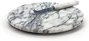 RSVP White Marble Cheese Board & Knife