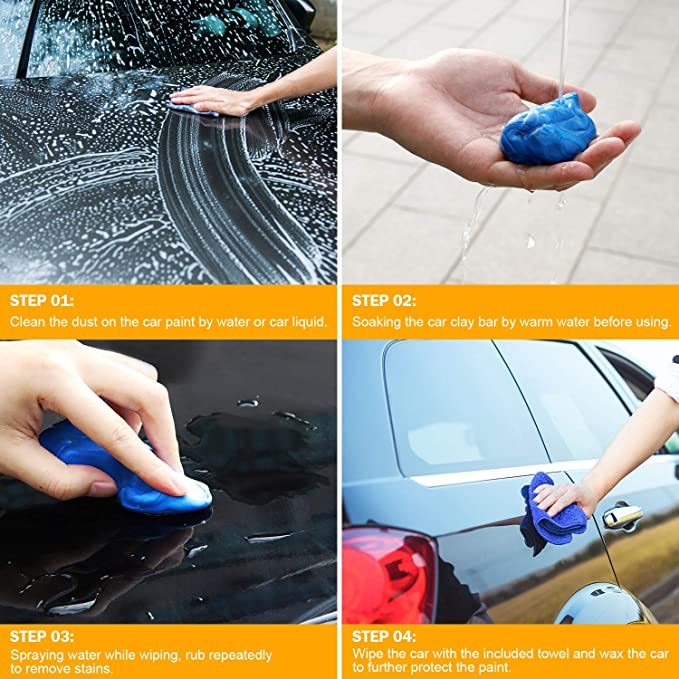 Car Repair Tools Sporting Magic Clay Car Auto Cleaning Remove Marks Detailing Wash Cleaner Blue 180g Structural Disabilities