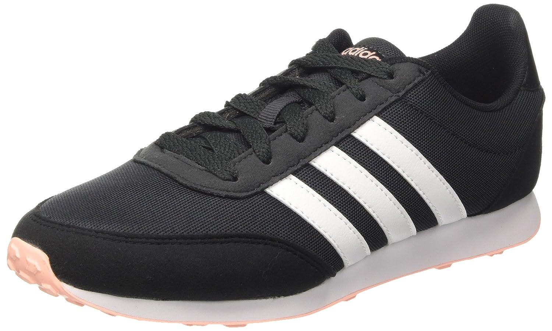 Adidas V Racer 2.0, Zapatillas de Entrenamiento para Mujer 41 1/3 EU Gris (Carbon/Core Black/Haze Coral 0)