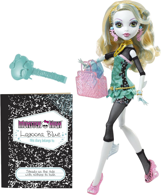 Amazon.es: Monster High W2822 - Muñeca Lagoona Blue con diario (Mattel) [importado de Francia]: Juguetes y juegos
