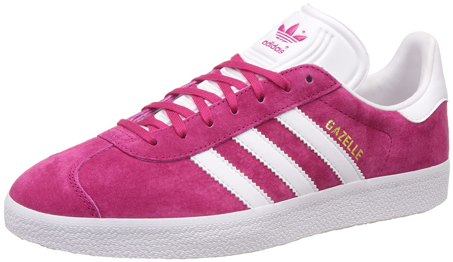 adidas Men's Gazelle Casual Sneakers B01IP4DKOK 8.5 D(M) US|Pink White