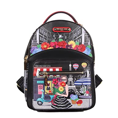 0f1c86107a Nicole Lee Women s Adeen Smart Lunch Backpack Vol. 2-A Day in Paris