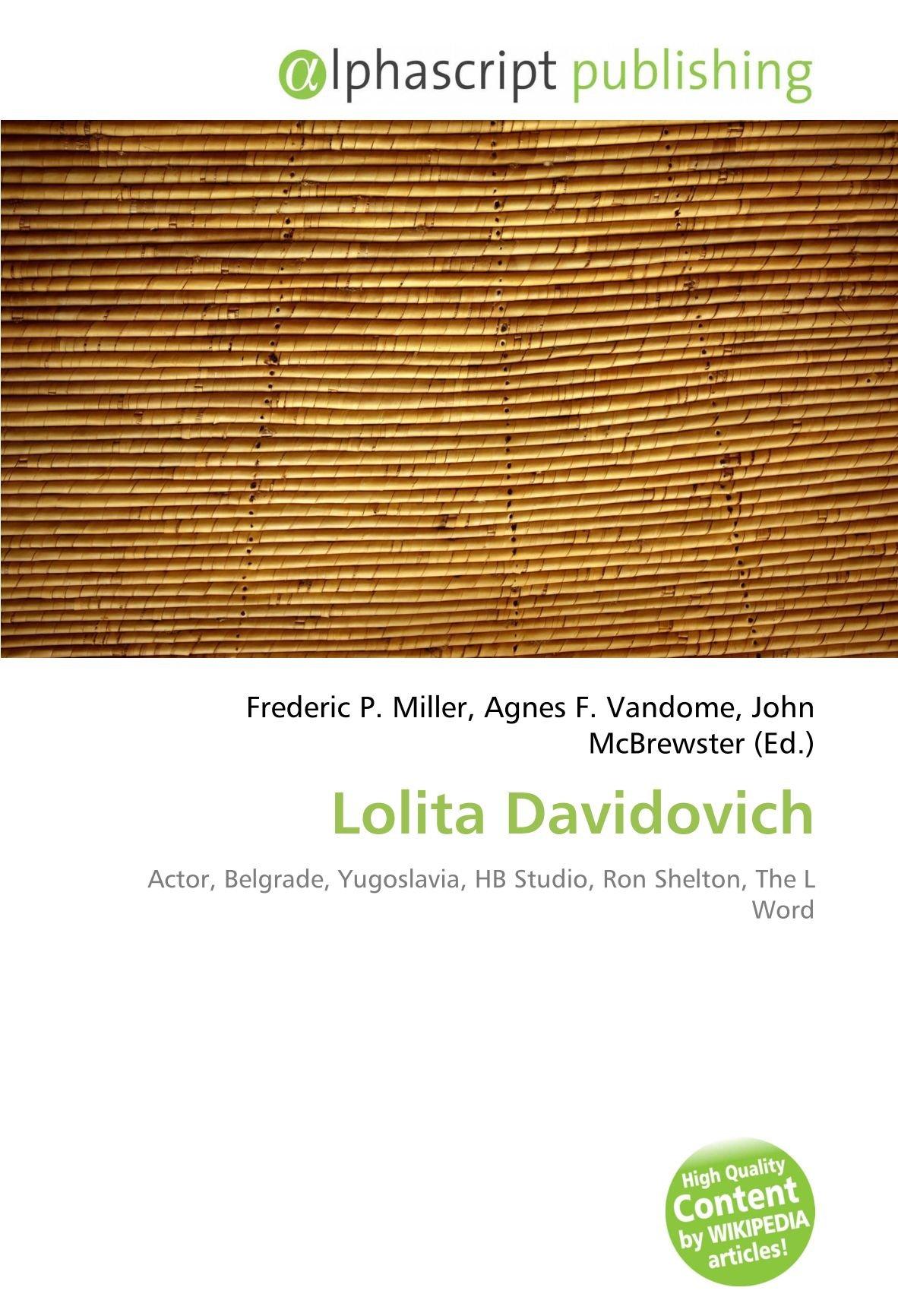 Lolita Davidovich: Actor, Belgrade, Yugoslavia, HB Studio ...