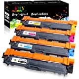 EBY TN-241 TN-245 Cartucho de Toner Compatible para Brother reemplazo compatible con Brother DCP-9020CDW HL-3140CW HL-3150CDW HL-3170CDW MFC-9140CD (1Negro, 1cyan, 1yellow, 1magenta)