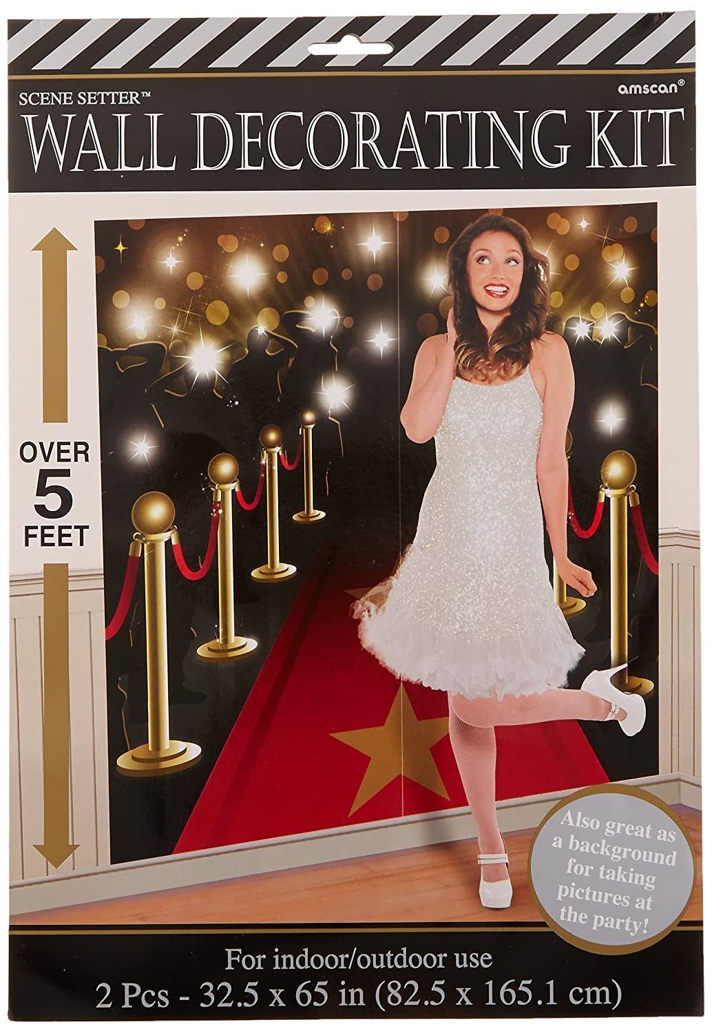 Hollywood Themed Party Down the Red Carpet Scene Setters Decorating Kit 2 Pack