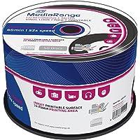 MediaRange MR226 Vinyl CDR80 700MB 52x (50) Cake Box Ink Jet Printable