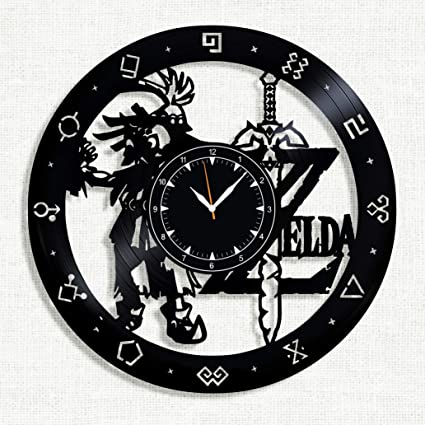 c11de33137 Amazon.com: The Legend of Zelda Vinyl Record Clock - The Legend of ...
