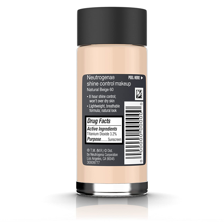 Amazon.com : Neutrogena Shine Control Liquid Makeup Broad Spectrum Spf 20, Neutral Beige 60, 1 Oz. : Foundation Makeup : Beauty