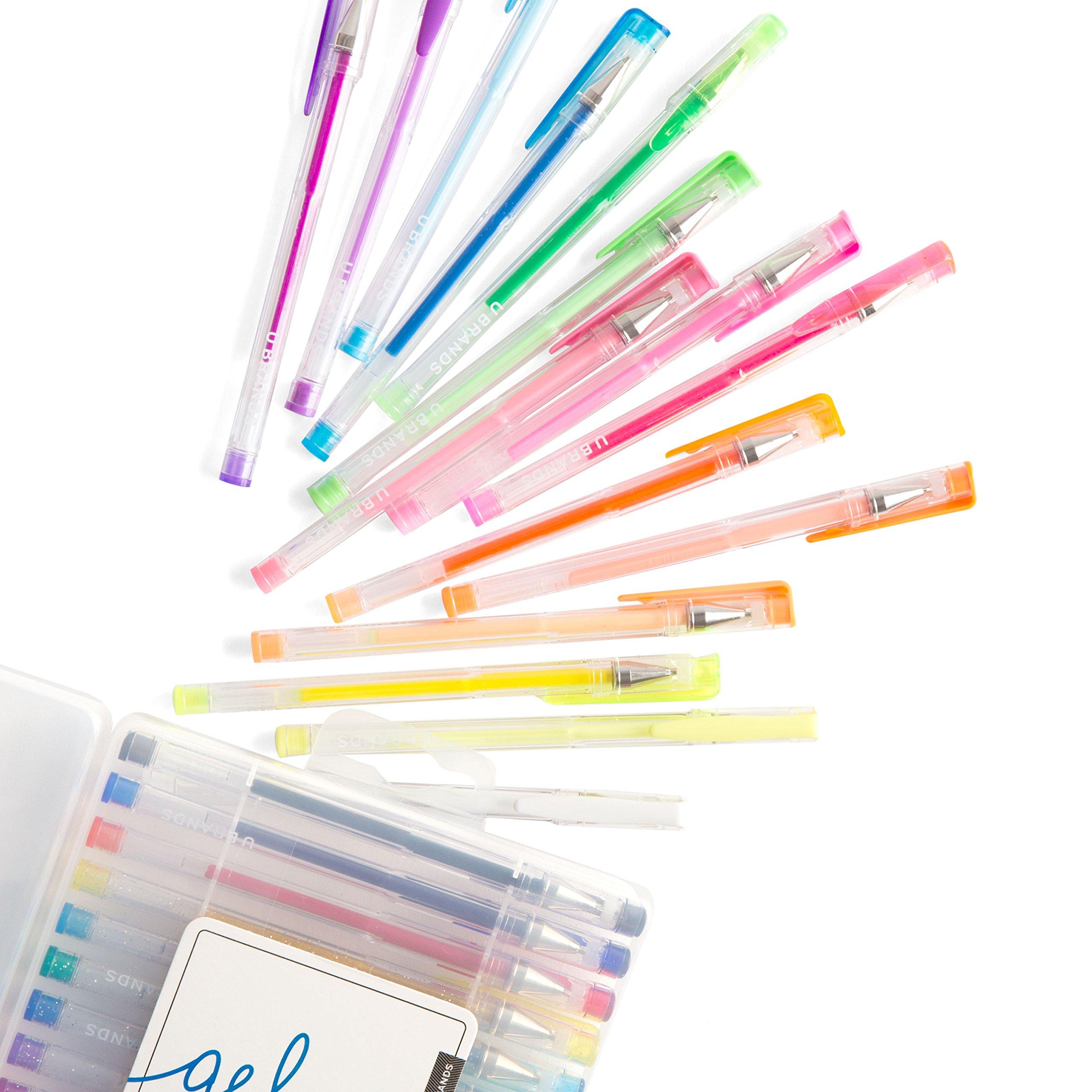 30 x U Brands Metallic Gel Pens, Assorted Colors
