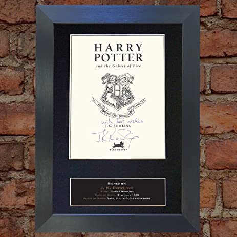 Amazon.com: J.K. ROWLING Harry Potter Signed Autograph Mounted ...