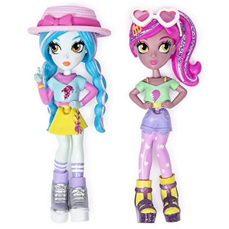 "Off the Hook Style BFFs, Vivian & Mila (Summer Vacay), 4"" Small Dolls with Mix & Match Fashions & Accessories, for Girls Aged 5 & Up"