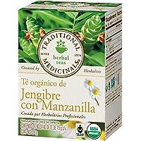 Traditional Medicinals, Té Orgánico De Jengibre Con Manzanilla, 24 Gr., 16 Bolsitas De Té