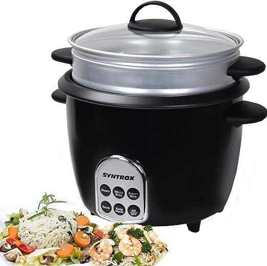 Syntrox Germany Slow Chef RC-700W Gourmet - Robot de cocina multifunción (1,8 l, 700 W, función de mantenimiento en caliente): Amazon.es: Hogar