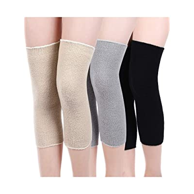 3 Pairs Leg Warmers Fabric Knee Brace Knee Pads Warm Thermal Knee Sleeves for Women: Clothing