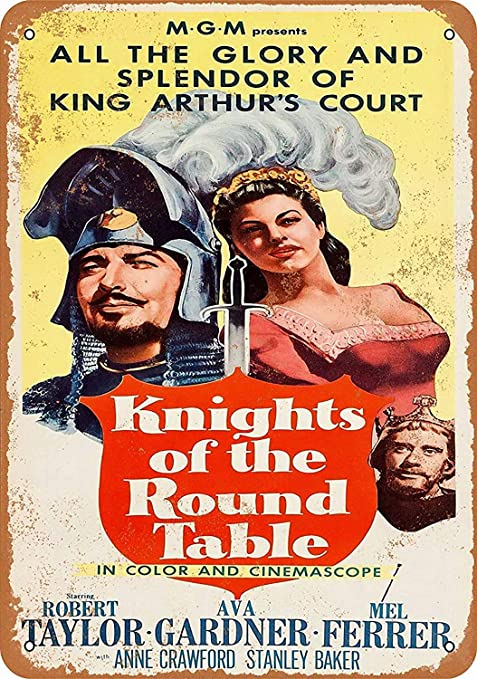HALEY GAINES Knights The Round Table Movie Placa Cartel ...