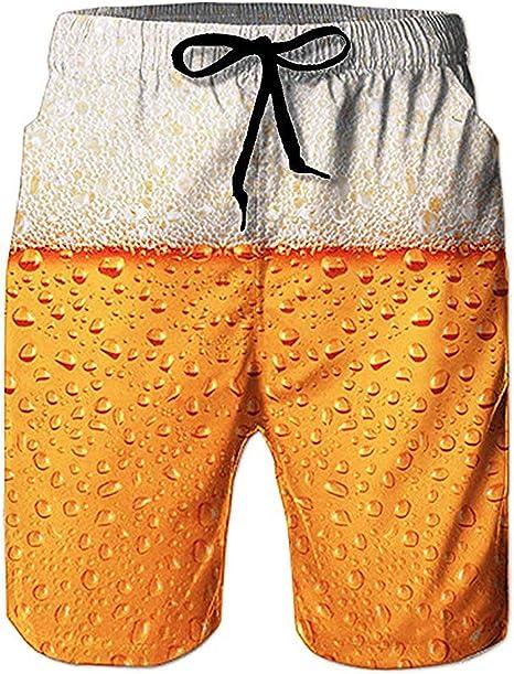 Loveternal Hombre Pantalones Cortos de Playa Secado Rápido Bañador ...
