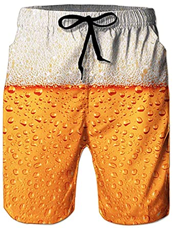 3382f23ea584c Loveternal Mens Beach Shorts Quick Dry Beach Pants with Pockets Printed  Swim Trunks: Amazon.co.uk: Clothing