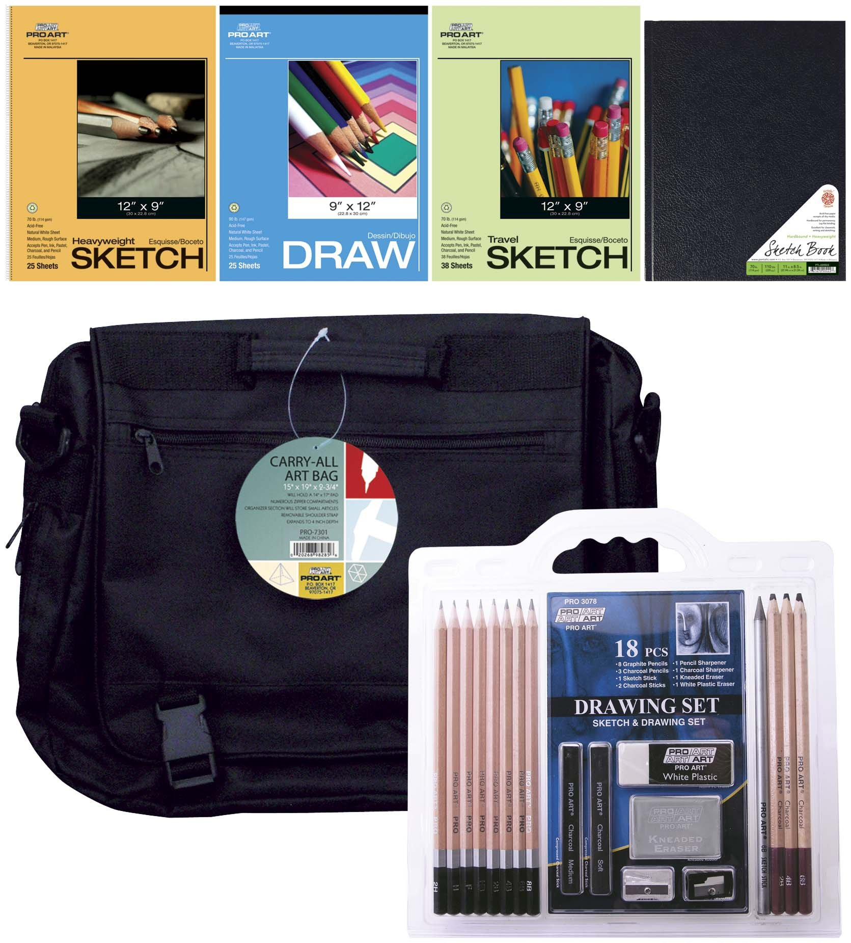 PRO ART 16318Pro Art Art on The Go Drawing Set, 23-Piece by PRO ART