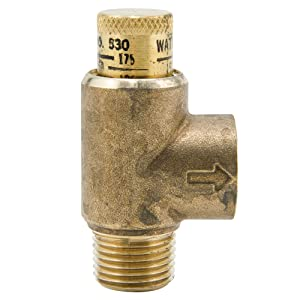 Watts 1/2 in Lead Free Brass Poppet Type Calibrated Pressure Relief Valve, Adjustable 50-175 psi