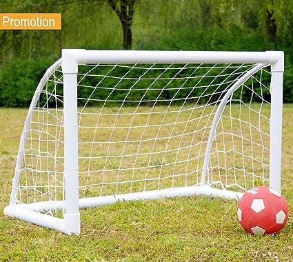 iiSPORT Mini Soccer Goals 4x3 FT Kids Soccer Goal Net, 50mm Diameter PVC  Frame Portable - Amazon.com : IiSPORT Mini Soccer Goals 4x3 FT Kids Soccer Goal Net