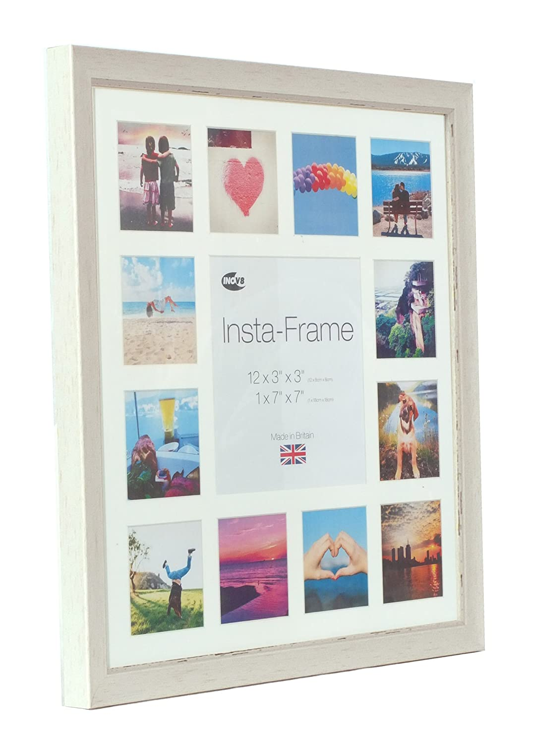 Inov8 Insta Sml Wash 16x16 Inch Picture Frame for 13 Instagram ...