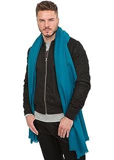 Grande écharpe  Soho  tissée à la main en laine mérinos, gris ... b278f4773fd