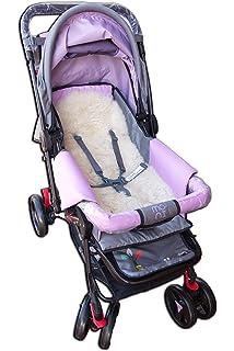 Car Seat Baby Stroller Pushchair Bike Seat Lambskin Sheepskin Liner