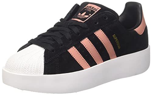 Adidas Womens Superstar Bold Suede Trainers: