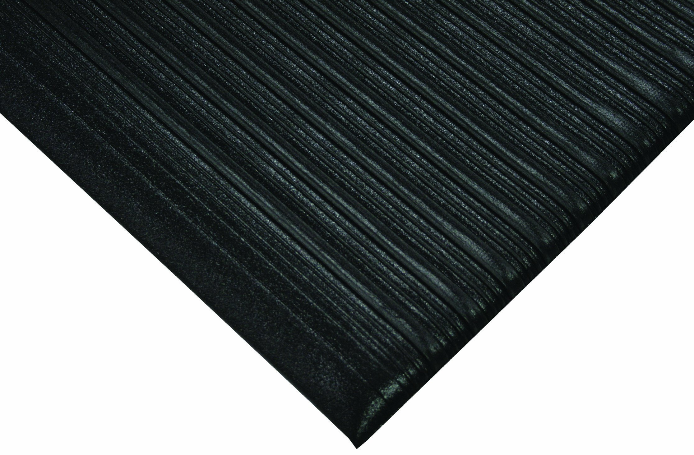 Wearwell PVC 451 Tuf Sponge Light Duty Anti-Fatigue Mat, for Dry Areas, 2' Width x 60' Length x 3/8'' Thickness, Black