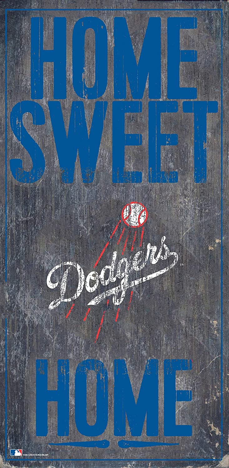 MLB Los Angeles Dodgers Unisex Los Angeles Dodgers Home Sweet Home Sign, Team Color, 6 x 12