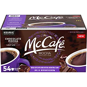 McCafe Mocha Magic Chocolate Mocha K-Cup Pods, 54 count Box, 18.6 Ounce (Pack of 1)