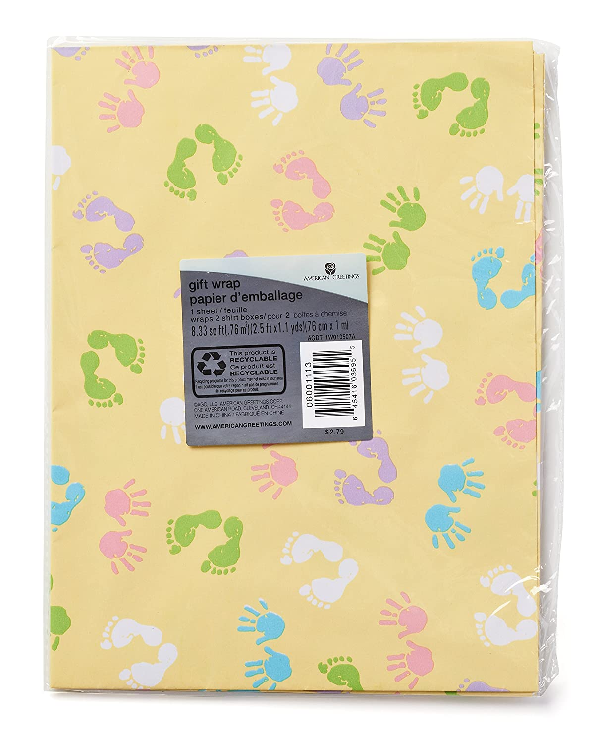 Amazon American Greetings Baby And Baby Shower Wrapping Paper