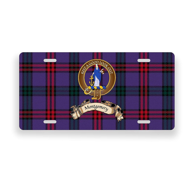 Montgomery Scotland Clan Tartan Novelty Auto Plate