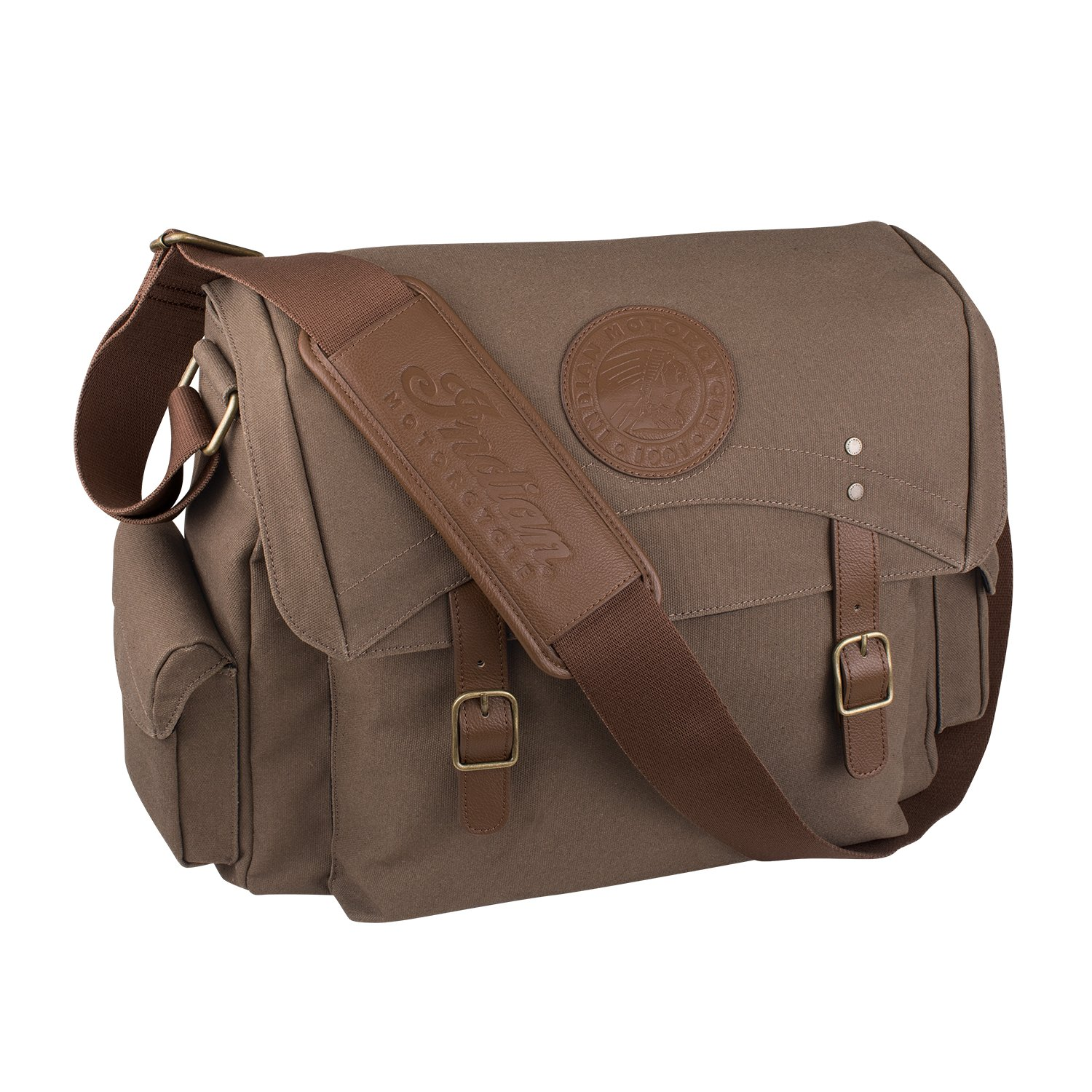 Indian Motorcycle Waxed Cotton Messenger Bag