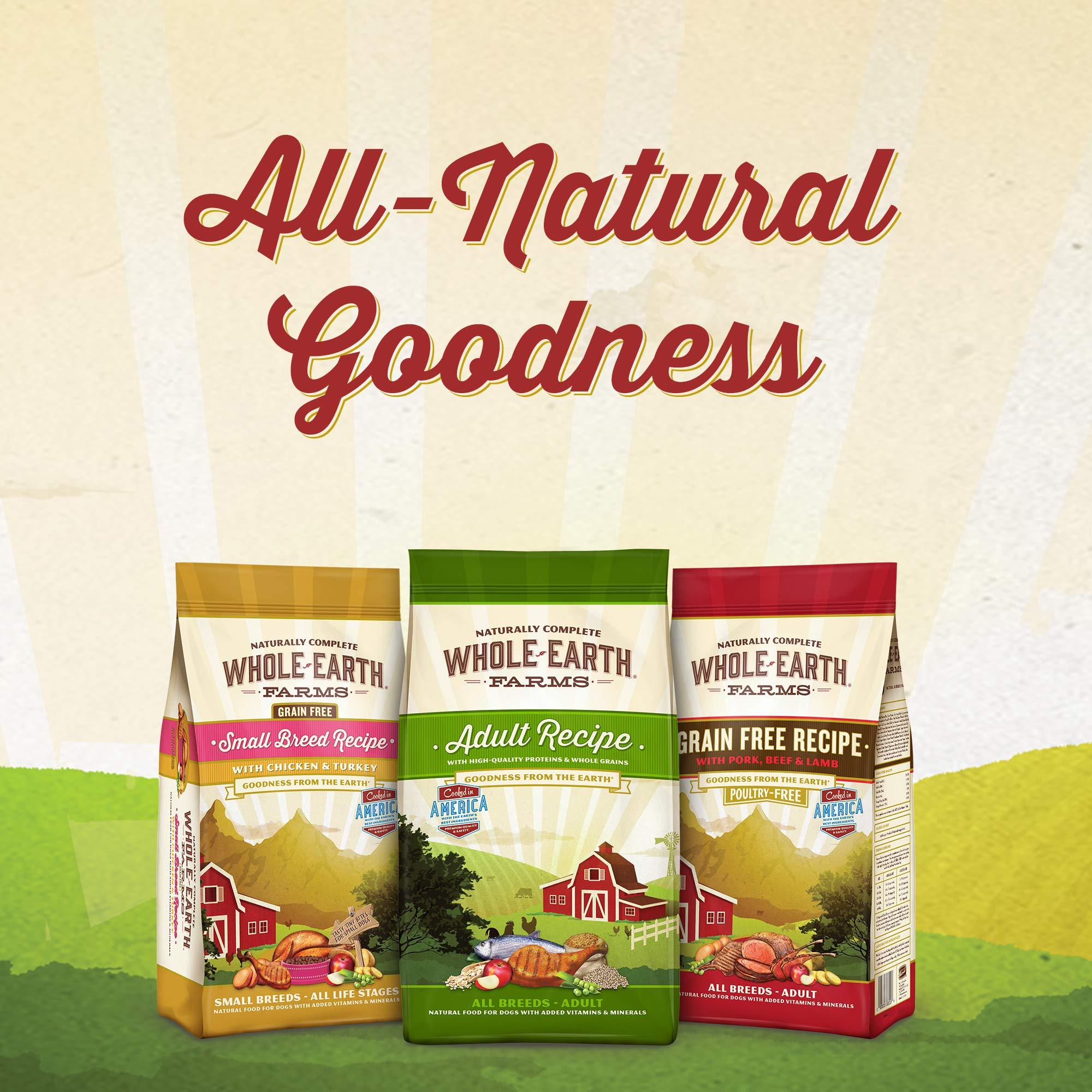 Whole Earth Farms Grain Free Recipe Dry Dog Food, Salmon & Whitefish, 25-Pound