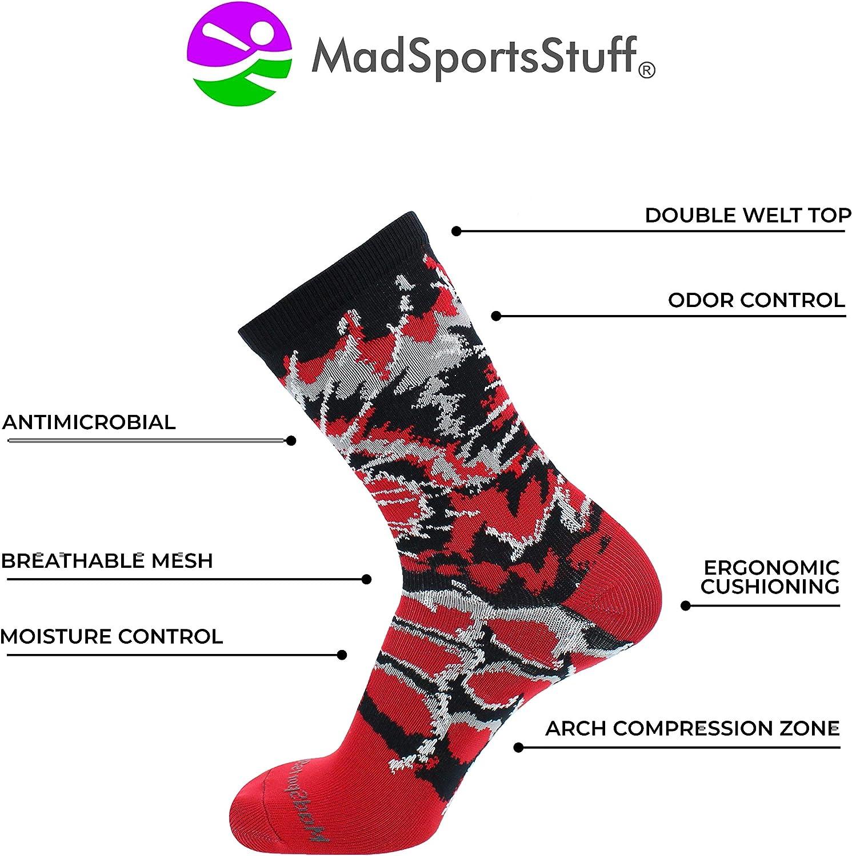 MadSportsStuff Crazy Tie Dye Socks Crew Basketball Football Volleyball Lacrosse