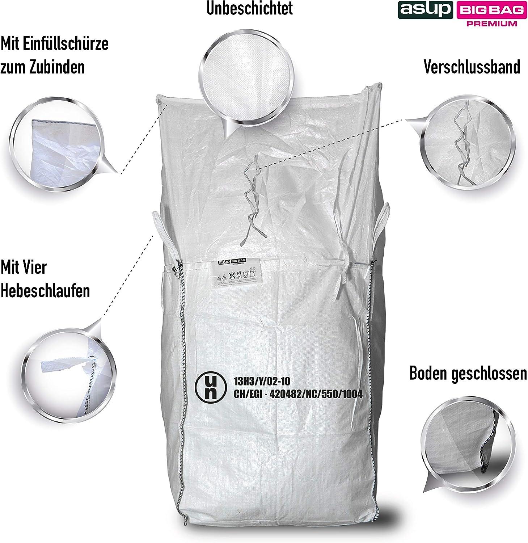 Pattini in linea in LDPE Big Bag 90/x 90/x 110/cm grembiule rabbocco SWL 1500/kg