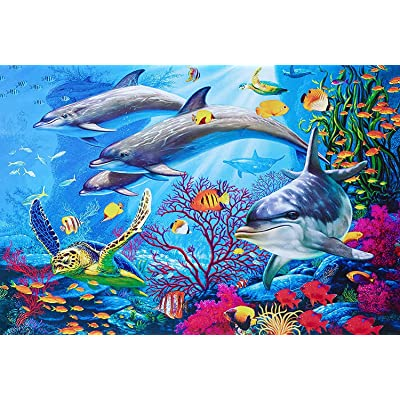 "Obreeze Jigsaw Puzzles for Adults 1000 Pieces- Bright Undersea World Fun Family Game 19.6"" x 27.5"" Big Size: Toys & Games"