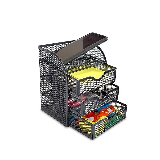 HOMCOM Schreibtischorganizer Aufbewahrungsbox Büro Box Organisation 2 Schubladen