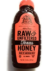 Nature Nate's 100% Pure, Raw & Unfiltered Texas Honey; 16oz. Squeeze Bottle; Made in Texas