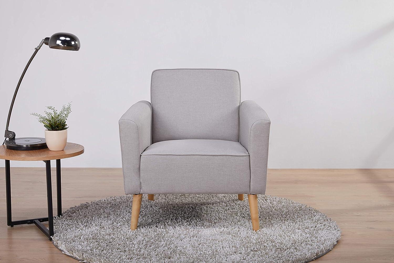 Marca Amazon - Movian Scutari - Butaca de diseño, 75 x 78 x 78, gris claro